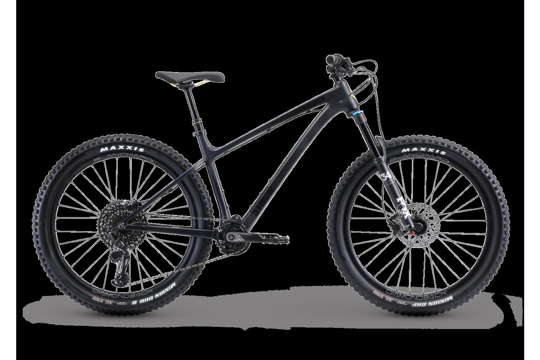 black hard tail mountain bike