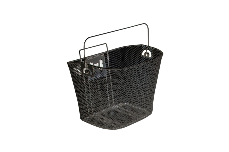 Metal Mesh Bike Basket - Black