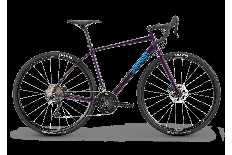 a purple, lightweight womens road bike