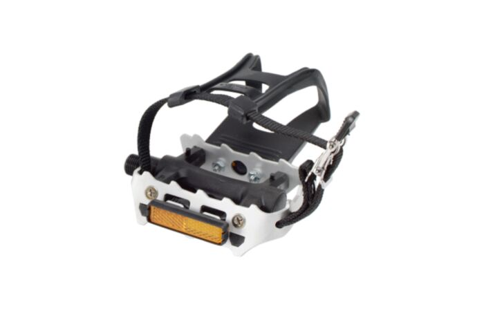 Nylon / Alloy Bike Pedals w/Toe Clip