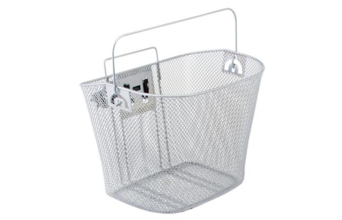 Metal Mesh Bike Basket - Silver
