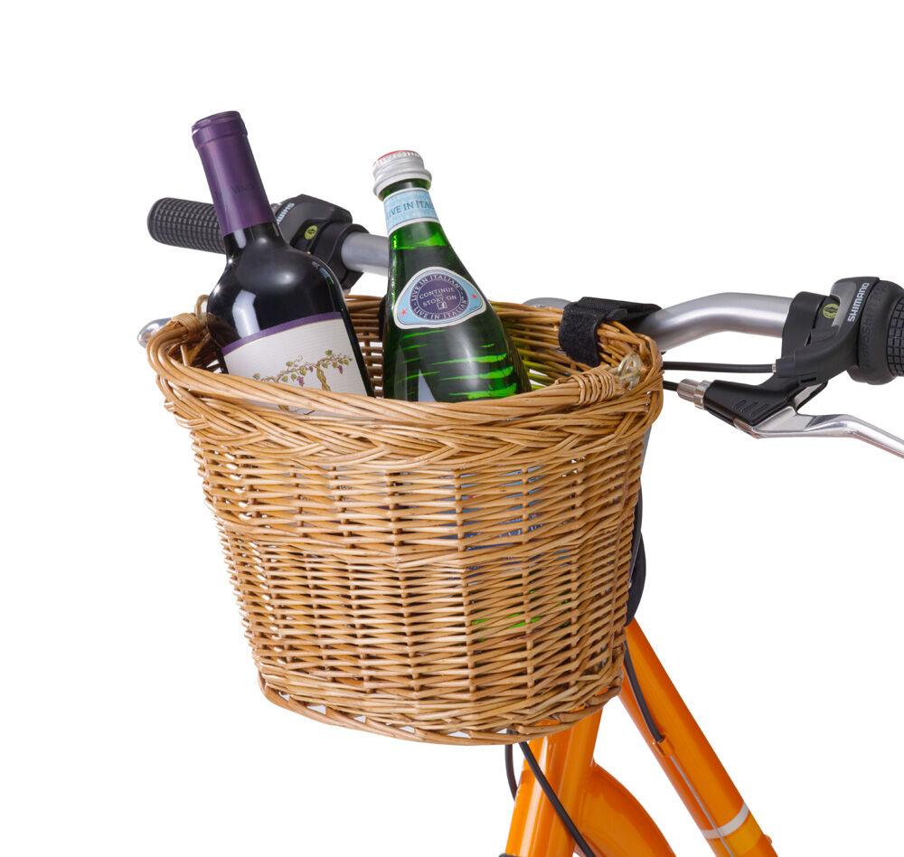 Wicker Front Bike Basket